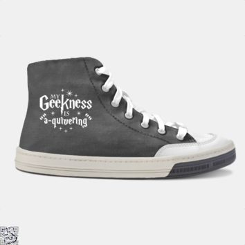 My Geekness Is A Quivering, Harry Potter Skate Shoe