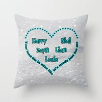 One Direction - Little Things Throw Pillow by Alice Gosling | Society6