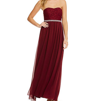 Xtraordinary Lace Bodice Gown | Dillards