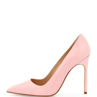 Manolo Blahnik BB Patent 115mm Pump, Light Pink (Made to Order)
