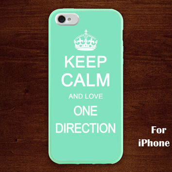 iPhone 5 Case, keep calm and love one direction iphone 5 case, mint green iphone 5 case, case for iphone 5
