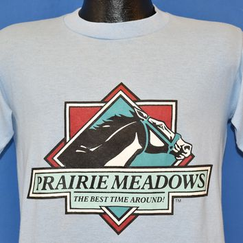 80s Prairie Meadows Best Time Around t-shirt Medium