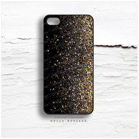 iPhone 6 Case, iPhone 5C Case Glitter Texture Print, iPhone 5s Case Golden Glitter iPhone 5 Case Black, Glitter iPhone Case iPhone Cover N41