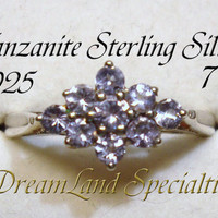 Tanzanite Sterling Vintage Jewelry  Silver Ring Size 7 PV