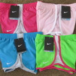 NWT Nike Girls Tempo Running Shorts w/Briefs 367358 Pink Blue Green