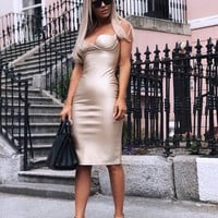 Kimmy Vegan Leather Bodycon dress in 5 color