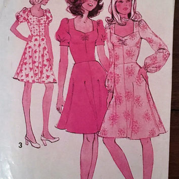 "Vintage Maudella Sewing Pattern 5878 for ""Women'sDress"" From 1960s / Size 12 Bust 34"
