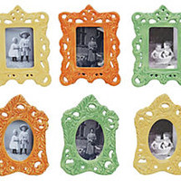 Fall Ceramic Frames, 3x4, Asst. of 6