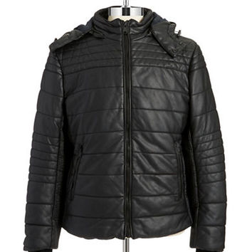 Rogue State Plaid-Lined Puffer Jacket