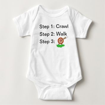 Crawl Walk Archery Baby Bodysuit