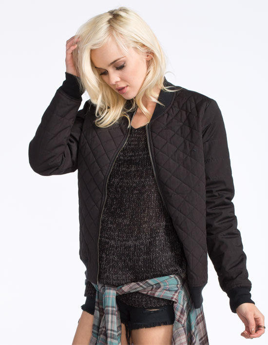 Rvca Mason Womens Quilted Bomber Jacket From Tillys Things I