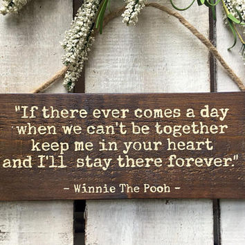 Girlfriend/Boyfriend Gift. Long Distance Relationship. Winnie The Pooh. Valentine's Day Gift. Love Quote. Love Sign. Romantic Gift.
