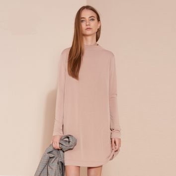 Fashion sports and leisure sweater dress long-sleeved dress