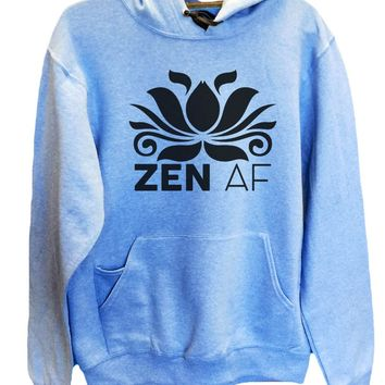 UNISEX HOODIE - Zen AF - FUNNY MENS AND WOMENS HOODED SWEATSHIRTS - 2115