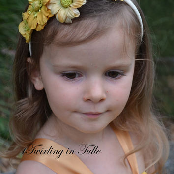 Gold Tulle Flower Girl Dress  Size 2 - 4T