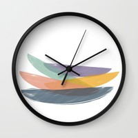 Abstract color balance Wall Clock by Indiepeek | Marta