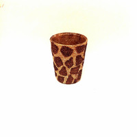 Giraffe print shot glass