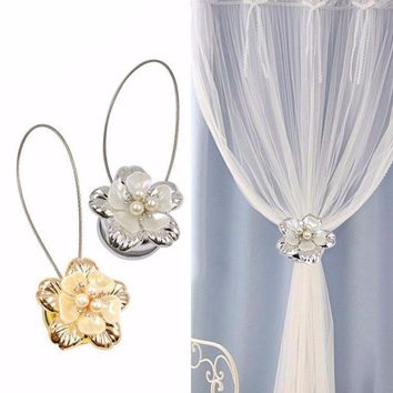 Flower Wire Magnetic Buckle Curtain Tieback