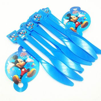 10pcs knife mickey Mouse Girls Kids Birthday Party Decoration Set Mickey Party Supplies Baby Birthday Pack event Kids Favors