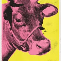 Andy WarholCow (pink), 1989