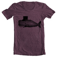 Women's WHALE T shirt Men's Tee Unisex by FullSpectrumClothing