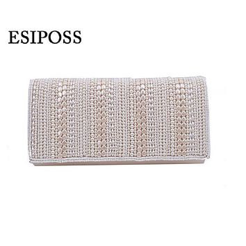Women Pearl evening bag Banquet Handmade Embroidered Pearl handbags day clutches purse party bags Shoulder bag crossbody bag
