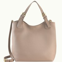 GiGi New York Olivia Shopper Stone Pebble Grain Leather