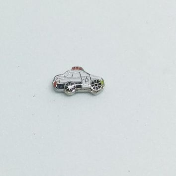 Police Car Floating Charm
