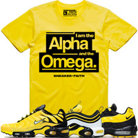 ALPHA OMEGA Sneaker Tees Shirt - Nike Air Max Frequency Pack Bumble Bee