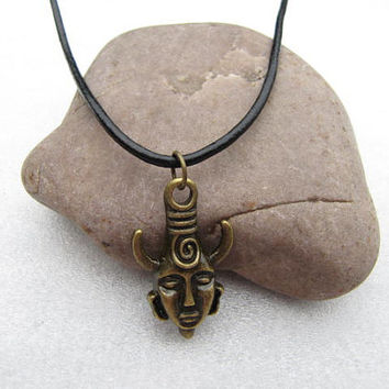 ON SALE--brass Dean winchester hyperphysical Handmade Supernatural Inspired protection Necklace