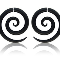 Tribal Spirals, Fake Gauge or Gauge Earrings