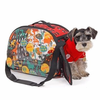 Foldable Transparent Pet Slings Carrier Bags Breathable Pets Dog House Portable Puppy Dog Cat Carrier Bag Travel High Quality