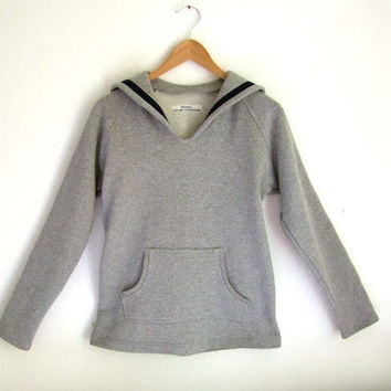 SWEATER AHOI MAMAN, Light Grey Sailor Sweater With Navy Blue Stripes