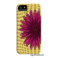 Flower Power, Floral iPhone 5 Case, Funky, Art, iPhone5 cases, by Ingrid, iPhone 5S case