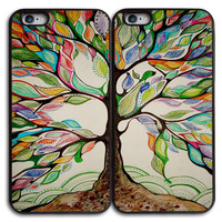 Love Tree Best Friends Matches Case for iPhone and Samsung Series,Two Differrent Phone Models Mixed OK