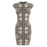 Stained Glass Chenille Jacquard Mini Dress Alexander McQueen | Mini Dress | Dresses |