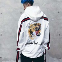 ca kuyou Embroidery 3d Hoodies Men Streetwear