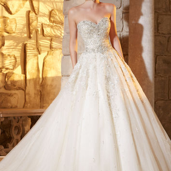 Mori Lee 2791 Beaded Ball Gown Wedding Dress