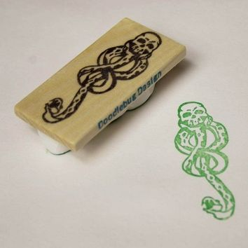 Large Dark Mark Handcarved Stamp by doodlebugdesign on Etsy