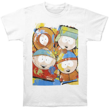 South Park Men's  Painted Characters T-shirt White Rockabilia