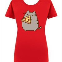 Hey Chickadee - Pizza Pusheen T-shirt (womens)