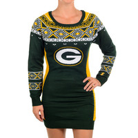 Green Bay Packers Official NFL Sweater Dress by Klew