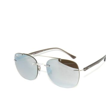 RAY BAN SunglaSSeS 4280 CLEAR/ GRAD BROWN SILVER MIR 6290/B8 Rayban 'LightRay'