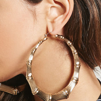 Oversized Bamboo Hoop Earrings