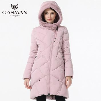 GASMAN New Winter Collection Brand Fashion Thick Women Winter Bio Down Jackets Hooded Women Parkas Coats Plus Size 5XL 6XL