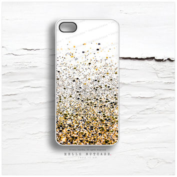 iPhone 6 Case, iPhone 5C Case Glitter Texture Print, iPhone 5s Case Golden Glitter iPhone 5 Case Black, Glitter iPhone Case iPhone Cover N42