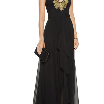 Embellished silk-georgette gown | Marchesa Notte | US | THE OUTNET