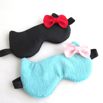 Valentine Gifts for Her, Eye mask, Cat Sleep mask, Travel sleep mask, Kitty eye mask, Slumber Party Sleep Mask.