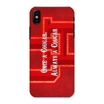 """Red Houston University """"Once a Cougar, Always a Cougar"""" Phone Case"""