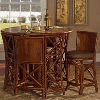 South Sea Rattan Pub Table Set | Wayfair